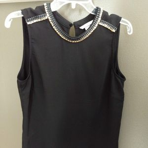 H&M Size 10 ladies black sleeveless blouse